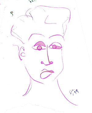 drawing, pink, face, lady, artofageniusmind, suzanne, coleman, talented, new, artist, genius, Illinois, Chicago