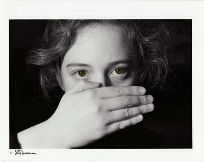 photo, black and white, art, print, woman, silence, politics, social, feminine, hand, eyes, exposure, skin, body, communication