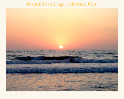 ocean, pacific, california, beach, sunset, sundown, water, waves, sky, peaceful, photo, photograph, suzanne, coleman, artofageniusmind, nature, force, san diego