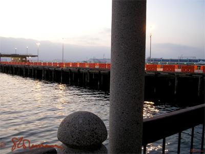 harbor, pier, ocean, coast, san diego, california, usa, orange, containers, stone, cement, haze, mist, waves, lines, angles, suzanne, coleman, art, photo, artofageniusmind