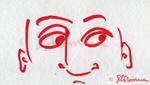 eye, eyes, you, marker, red, face, guy, drawing, art, sketch, suzanne,coleman, artofageniusmind