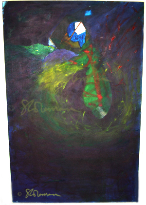 glow, worm, oil, painting, original, art, artist, paint, dark, commentary, life, figure, human, humans, humanity, earth, globe, suzanne, coleman, windown, world, dna, internal, reveal, revelations, bits, energy, physics