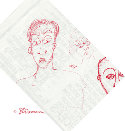 red, face, guy, drawing, guy, man, male, boy, faces, ink, people, person, sketch, suzanne,coleman,artofageniusmind